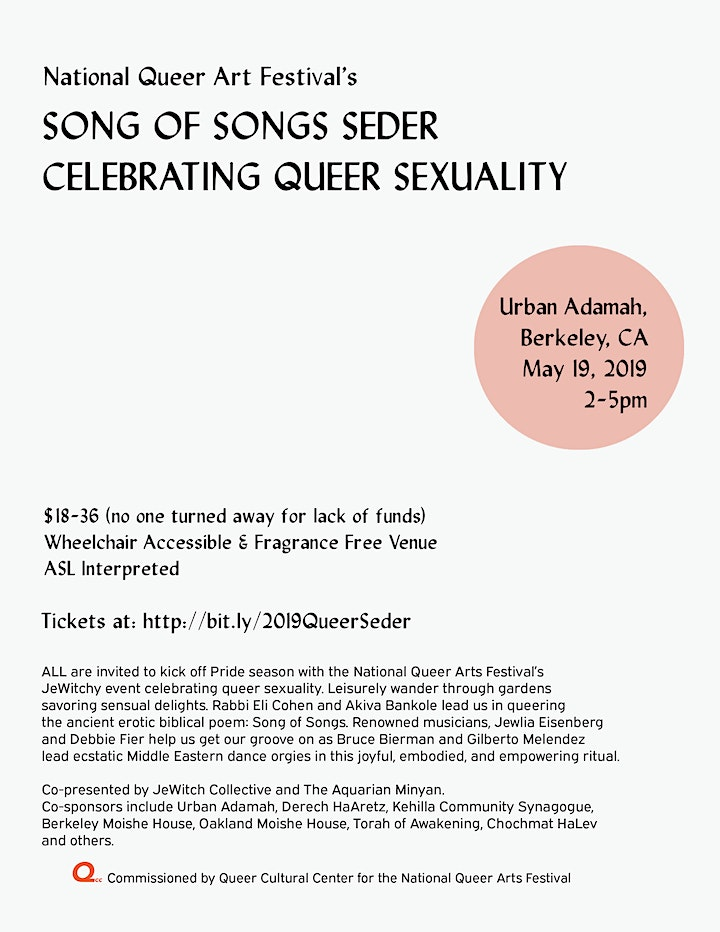 Song of Songs Seder: Celebrating Queer Sexuality image