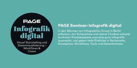 PAGE Seminar »Infografik digital« mit der Infographics Group in Berlin Tickets