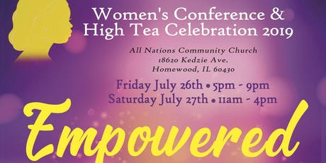 Empowered Women's Conference & High Tea Celebration 2019 tickets