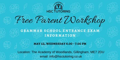 FREE PARENT WORKSHOP - 11+ EXAM INFORMATION EVENING