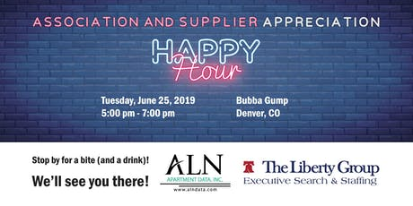 Association & Supplier Appreciation Happy Hour tickets