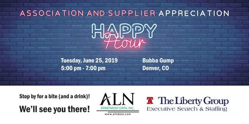 Association & Supplier Appreciation Happy Hour