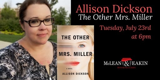 An Evening with Allison Dickson