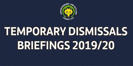 Temporary Dismissals (Sin Bin) Training tickets