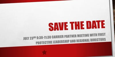 First Protective Carrier Partner Meeting