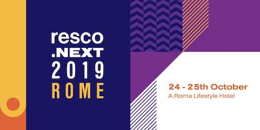 resco.next 2019 Rome