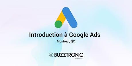 Introduction à Google Ads billets