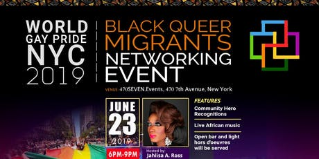 WorldPride 2019 Black Queer Migrants Networking Event tickets