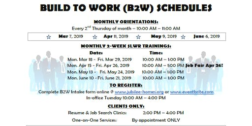 Build 2 Work Softskills Lifeskills and Work Readiness Training June 2019