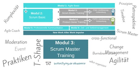 MODUL 3: Scrum Master Training | butterflying.de Akademie Tickets