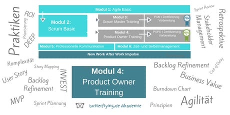 MODUL 4: Product Owner Training | butterflying.de Akademie Tickets