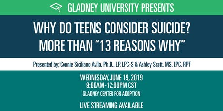 """Why Do Teens Consider Suicide? More Than """"13 Reasons Why"""" tickets"""