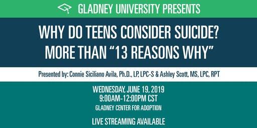 "Why Do Teens Consider Suicide? More Than ""13 Reasons Why"""