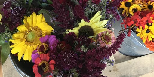 Fall Flower Harvest at Hendrick Farm