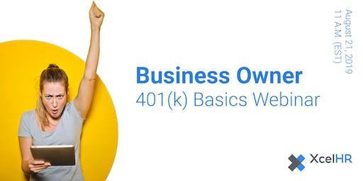 Business Owner 401(k) Basics (webinar)