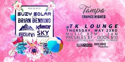TAMPA TRANCE NIGHTS presents SUZY SOLAR & BRIAN BENNING