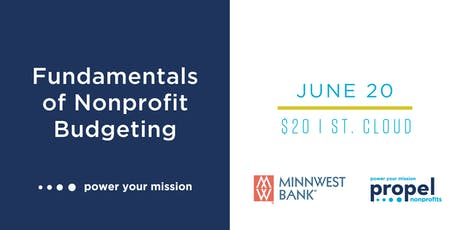 Fundamentals of Nonprofit Budgeting, St. Cloud - June 20, 2019 tickets