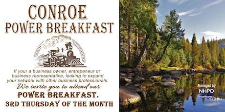Conroe Power Breakfast tickets