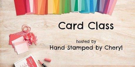 Card Class tickets