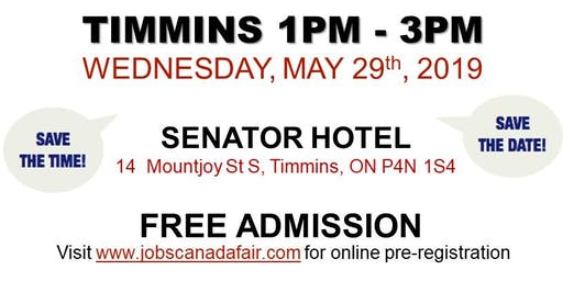 Timmins Job Fair -May 29th, 2019