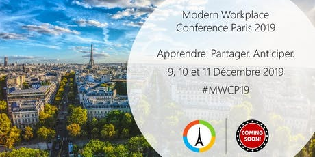 Modern Workplace Conference Paris 2019 billets