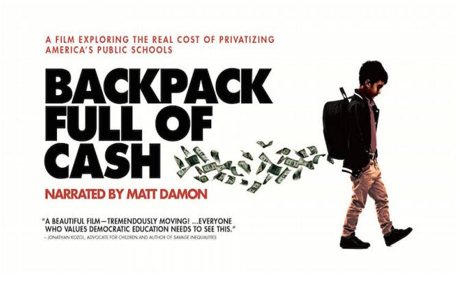 RBBB Screening of Backpack Full of Cash