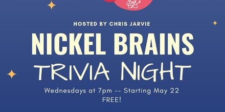 NickelBrains Trivia Night at Nickelbrook tickets