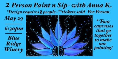 Paint n Sip- 2 Person Painting! *You need 2 tickets to paint both sides.