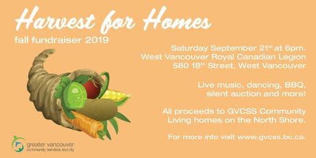 Harvest for Homes - Fundraiser for GVCSS tickets