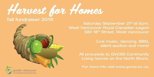 Harvest for Homes - Fundraiser for GVCSS