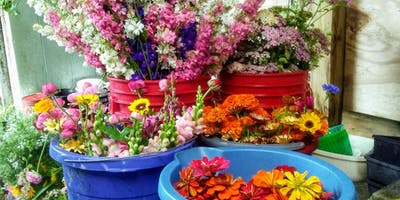 """Down to Earth Farm """"Just for Fun"""" Flower workshop"""