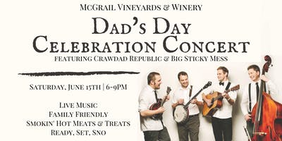 Father's Day Celebration Concert with Crawdad Republic & Big Sticky Mess