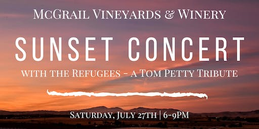 Sunset Concert at McGrail with the Refugees - A Tom Petty Tribute