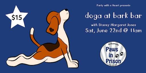 Dog + Yoga = Doga for Arkansas Paws in Prison