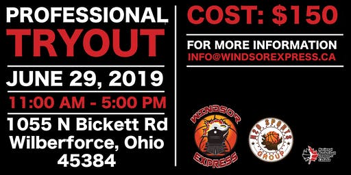 2019 Windsor Express Basketball PRO Tryout