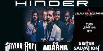 HINDER - SAVING ABEL-ARDANA-SISTER SALVATION - STARLAND BALLROOM