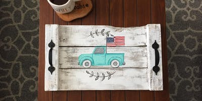 Old Glory Truck - Pallet Painting