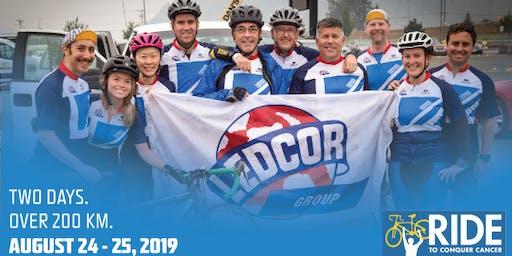 Team Ledcor Ride to Conquer Cancer  Pub Fundraiser