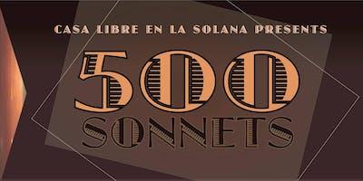 500 Sonnets: A Marathon for Casa Libre