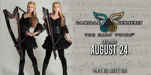 "The Harp Twins "" Camille & Kennerly"""
