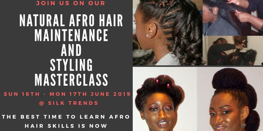 Natural Afro Hair Maintenance and Styling Masterclass (2 days) - C