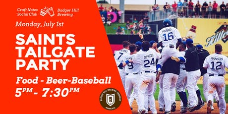 Saints Baseball Tailgating Party: Food-Beer-Game with Badger Hill tickets