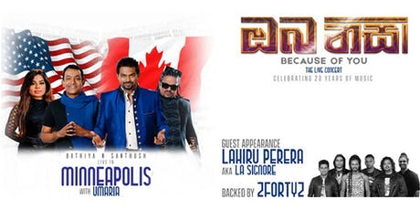 """BnS """"ඔබ නිසා"""" Because of You - Live in Minnesota tickets"""