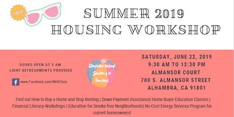 Summer 2019 Housing Workshop tickets