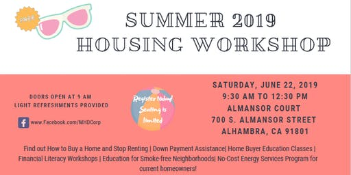 Summer 2019 Housing Workshop
