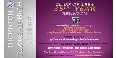 TTHS 35th Reunion- Class of 84
