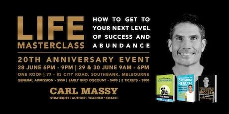LIFE MASTERCLASS with Carl Massy tickets