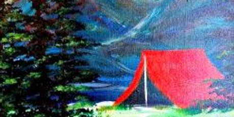 Paint Wine Denver Let's Go Camping Sun June 16th 1:30pm $25 tickets
