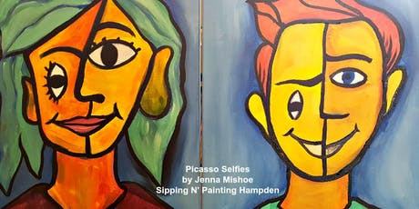 Paint Wine Denver Paint Your Partner or Dad Like Picasso Sun June 16th 5:30pm $25 tickets