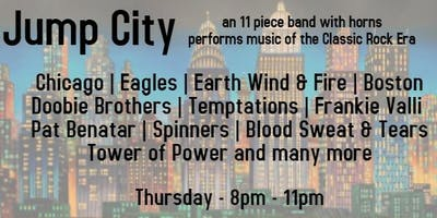 Jump City and the Highway Horns Classic Rock Band Free Concert